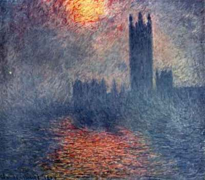Monet the Houses of Parliament